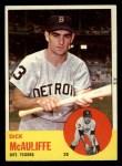 1963 Topps #64  Dick McAuliffe  Front Thumbnail