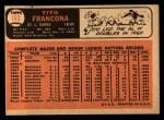 1966 Topps #163  Tito Francona  Back Thumbnail
