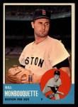 1963 Topps #480  Bill Monbouquette  Front Thumbnail