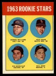 1963 Topps #324   -  George Williams / Pete Ward / Vic Davalillo / Phil Roof Rookies   Front Thumbnail