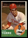 1963 Topps #161  Frank Torre  Front Thumbnail