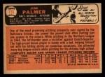 1966 Topps #126  Jim Palmer  Back Thumbnail