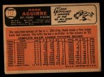 1966 Topps #113  Hank Aguirre  Back Thumbnail