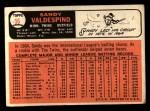 1966 Topps #56  Sandy Valdespino  Back Thumbnail