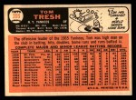 1966 Topps #205  Tom Tresh  Back Thumbnail