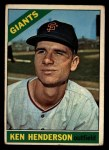 1966 Topps #39  Ken Henderson  Front Thumbnail