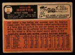 1966 Topps #20  Willie Horton  Back Thumbnail