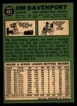 1967 Topps #441  Jim Davenport  Back Thumbnail