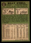 1967 Topps #162  Billy O'Dell  Back Thumbnail