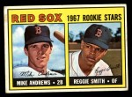 1967 Topps #314   -  Reggie Smith / Mike Andrews Red Sox Rookies Front Thumbnail