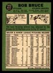 1967 Topps #417 BR Bob Bruce  Back Thumbnail
