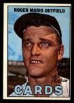1967 Topps #45 STL Roger Maris  Front Thumbnail