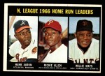 1967 Topps #244   -  Hank Aaron / Willie Mays / Rich Allen NL HR Leaders Front Thumbnail