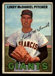 1967 Topps #46  Lindy McDaniel  Front Thumbnail