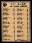 1967 Topps #242   -  Hank Aaron / Rich Allen / Roberto Bob Clemente NL RBI Leaders Back Thumbnail