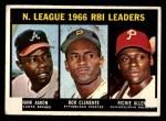 1967 Topps #242   -  Hank Aaron / Rich Allen / Roberto Bob Clemente NL RBI Leaders Front Thumbnail