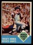 1963 Topps #146   -  Tom Tresh 1962 World Series - Game #5 - Tresh's Homer Defeats Giants Front Thumbnail
