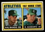 1967 Topps #33   -  Sal Bando / Randy Schwartz Athletics Rookies Front Thumbnail