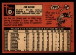 1969 Topps #176  Joe Azcue  Back Thumbnail