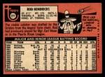 1969 Topps #277  Elrod 'Rod' Hendricks  Back Thumbnail