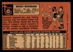 1969 Topps #142  Woody Woodward  Back Thumbnail