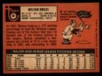 1969 Topps #60  Nelson Briles  Back Thumbnail