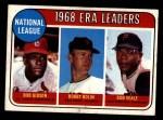 1969 Topps #8   -  Bob Gibson / Bob Bolin / Bob Veale NL ERA Leaders Front Thumbnail