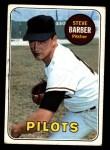 1969 Topps #233 *MUD* Steve Barber  Front Thumbnail