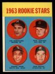 1963 Topps #253   -  Deacon Jones / John Wojcik / Pete Jernigan / Len Gabrielson Rookies Front Thumbnail