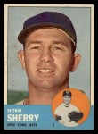 1963 Topps #316  Norm Sherry  Front Thumbnail