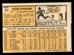 1963 Topps #335  Leon Wagner  Back Thumbnail