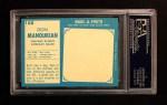 1961 Topps #188  Don Manoukian  Back Thumbnail