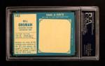 1961 Topps #142  Bill Groman  Back Thumbnail