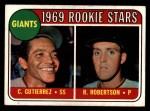 1969 Topps #16   -  Cesar Guitierrez / Rich Robertson Giants Rookies Front Thumbnail