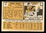 1963 Topps #157  Diego Segui  Back Thumbnail