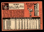 1969 Topps #595  Lee Maye  Back Thumbnail