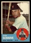 1963 Topps #356  John Schaive  Front Thumbnail