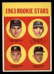 1963 Topps #299   -  Dave Morehead / Tom Butters / Dan Schneider / Bob Dustal Rookies   Front Thumbnail