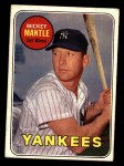 1969 Topps #500 ^YN^ Mickey Mantle  Front Thumbnail