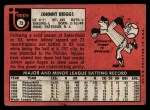 1969 Topps #73  Johnny Briggs  Back Thumbnail