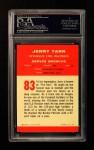 1963 Fleer #83  Jerry Tarr  Back Thumbnail