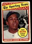 1969 Topps #427   -  Tony Oliva All-Star Front Thumbnail