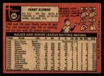 1969 Topps #283  Sandy Alomar  Back Thumbnail