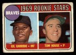 1969 Topps #331   -  Gil Garrido / Tom House Braves Rookies Front Thumbnail