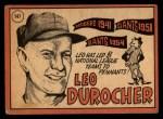 1969 Topps #147  Leo Durocher  Back Thumbnail