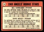 1969 Topps #224   -  Bill Harrelson / Steve Kealey Angels Rookies Back Thumbnail