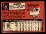 1969 Topps #482 ^YN^ Jim Gosger  Back Thumbnail