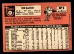 1969 Topps #41  Bob Barton  Back Thumbnail