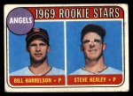 1969 Topps #224   -  Bill Harrelson / Steve Kealey Angels Rookies Front Thumbnail