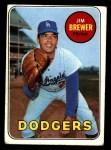 1969 Topps #241  Jim Brewer  Front Thumbnail